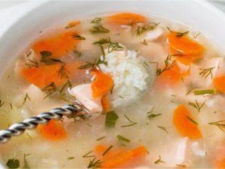 Pirinçli somon çorbası tarifi