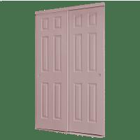 ReliaBilt 72-in x 80-in 6-Panel Interior Sliding Door