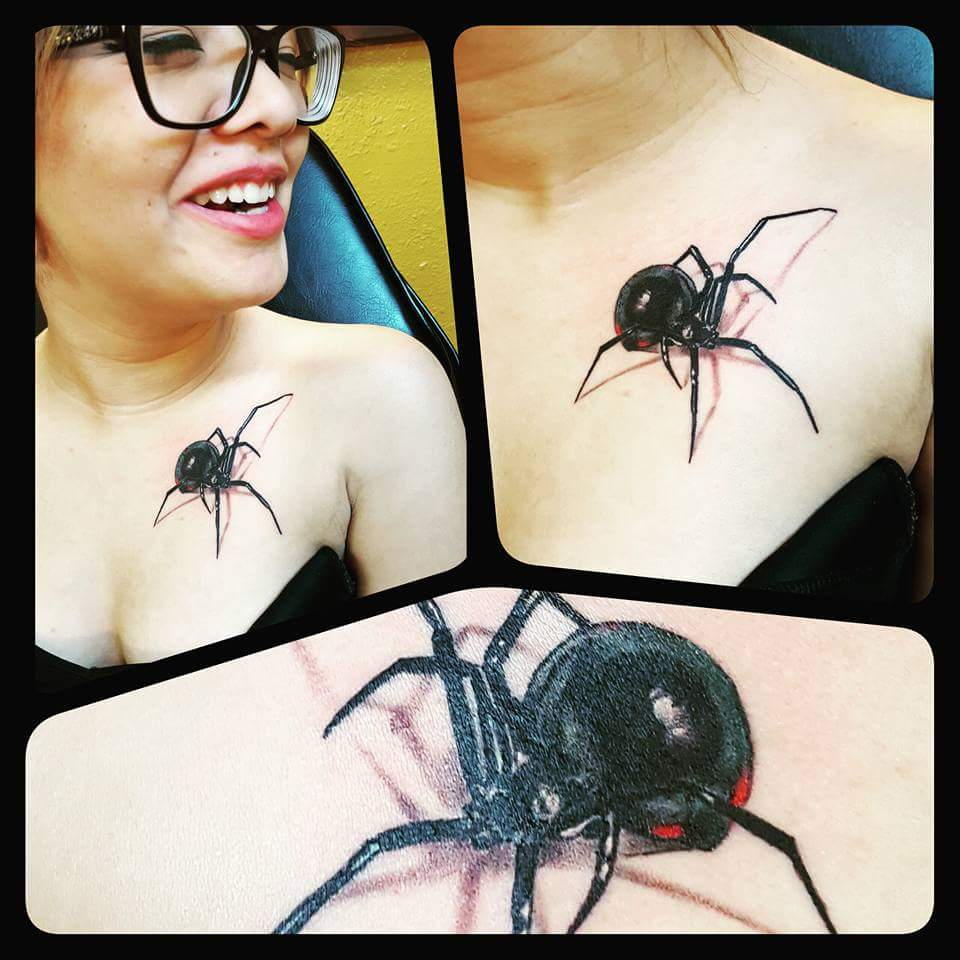 Realistic Spider Tattoo - Firme Copias