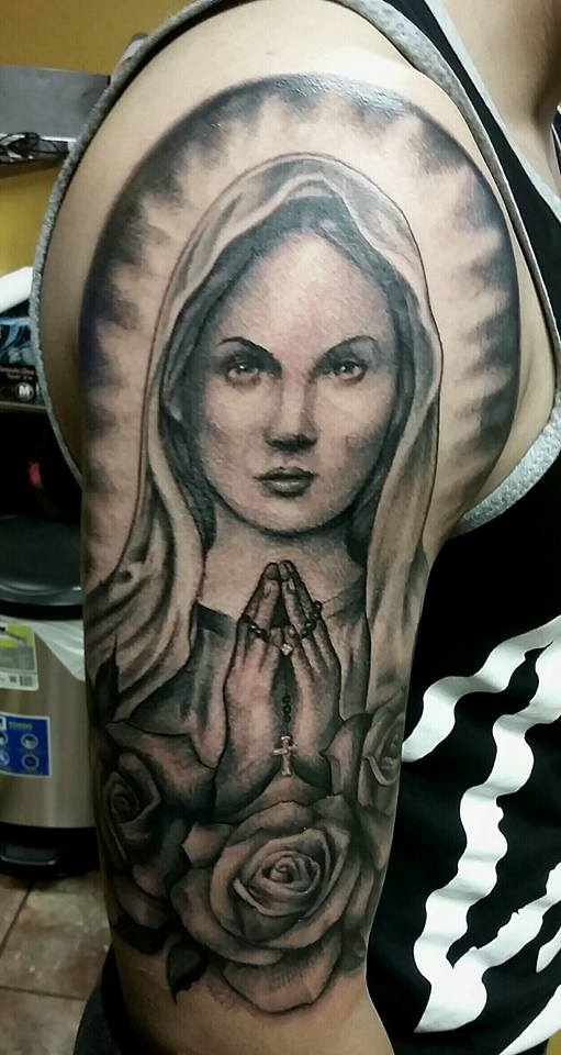 Virgin Mary Custom Tattoo - Firme Copias