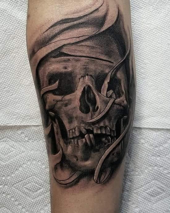 Skull Custom Tattoo - Firme Copias