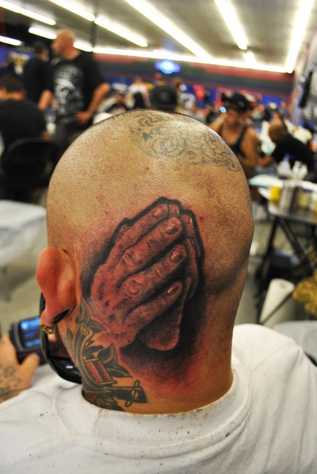 Praying Hand Custom Tattoo - Firme Copias