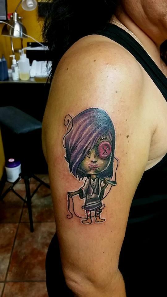 Girl Character Custom Tattoo - Firme Copias