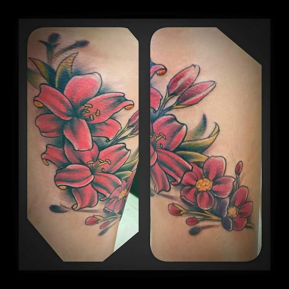 Flower Custom Tattoo - Firme Copias