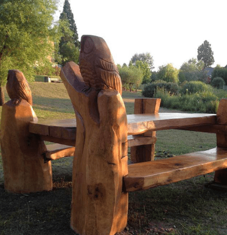 Carved Picnic Table