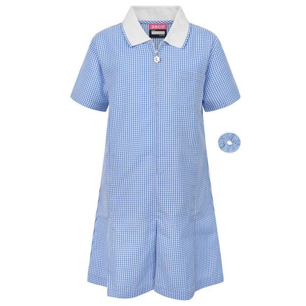 Sky Blue/White Gingham Dress