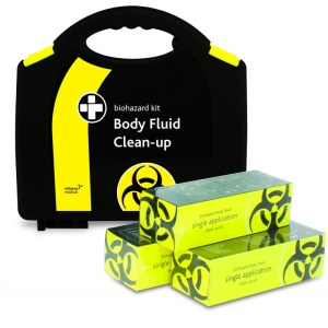bodily fluid clean up kit