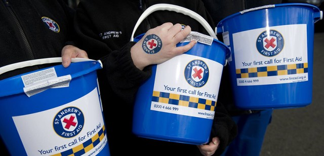 bucket collection - Charity Donation for St Andrew's First Aid