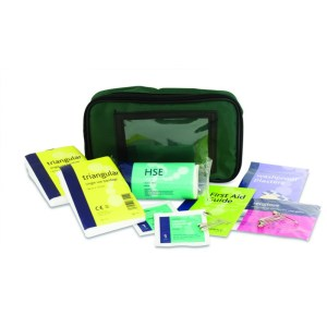 One Person First Aid Kit - Small Green Pouch