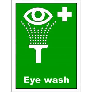 first aid emergency eye wash sign