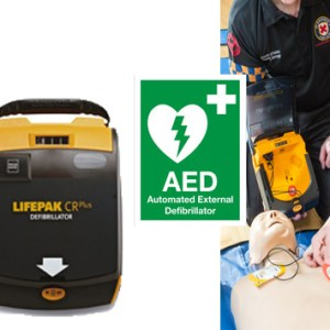 LifePak CR Plus Fully Automatic AED Starter Kit with Training