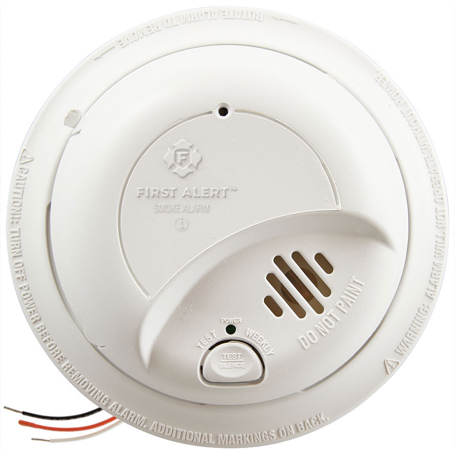 medium resolution of first alert hardwired smoke alarm with battery backup 9120b