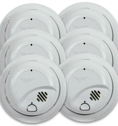 first alert 9120b6cp hardwired smoke alarm with battery backup 6 pack first alert store [ 1000 x 1000 Pixel ]