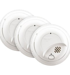 3 pack bundle of first alert 120vac hardwired smoke alarm with battery backup first alert store [ 1000 x 1000 Pixel ]