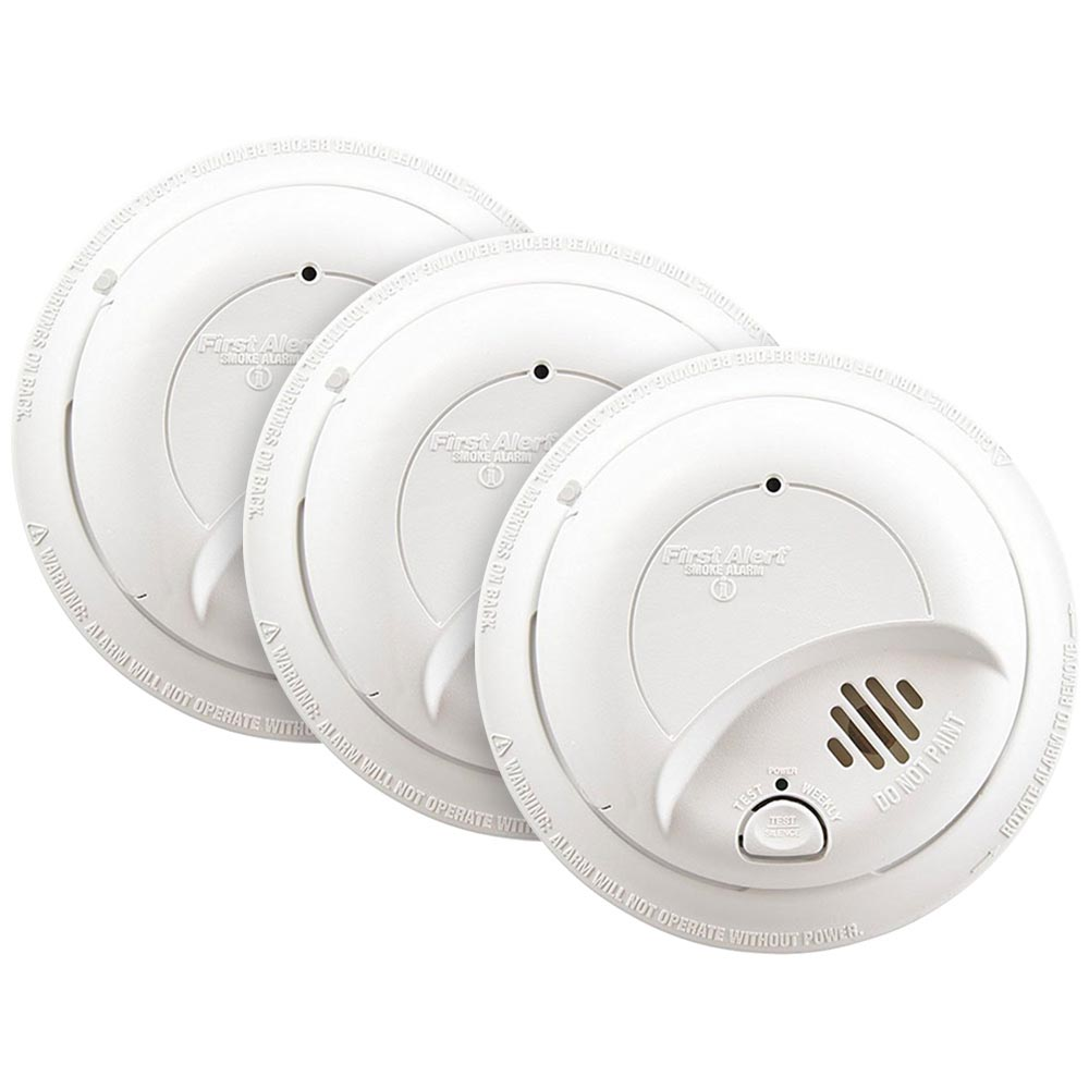 hight resolution of 3 pack bundle of first alert 120vac hardwired smoke alarm with battery backup first alert store