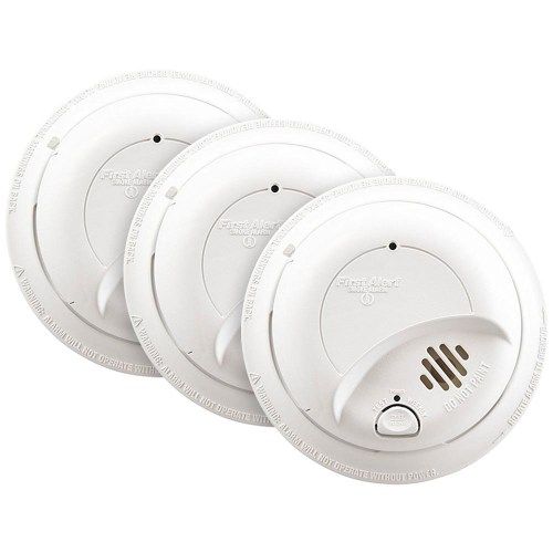 small resolution of 3 pack bundle of first alert 120vac hardwired smoke alarm with battery backup first alert store