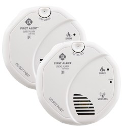 first alert sa511cn2 3st wireless battery operated smoke alarm with voice location twin pack first alert store [ 1000 x 1000 Pixel ]