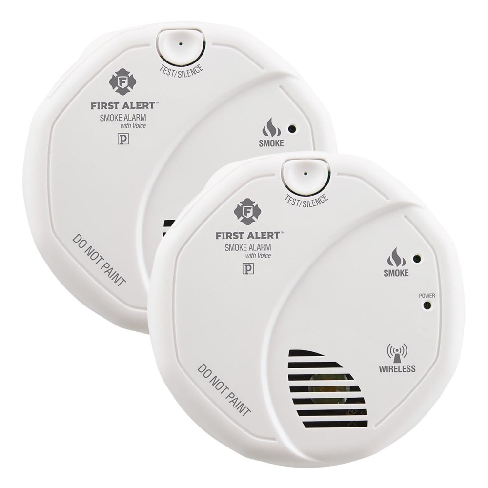 medium resolution of first alert sa511cn2 3st wireless battery operated smoke alarm with voice location twin pack first alert store