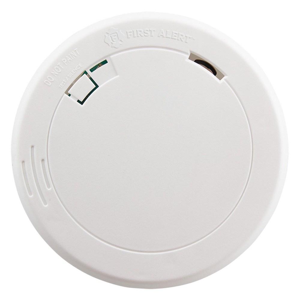 medium resolution of first alert pr700 slim design battery operated photoelectric smoke fire alarm first alert store