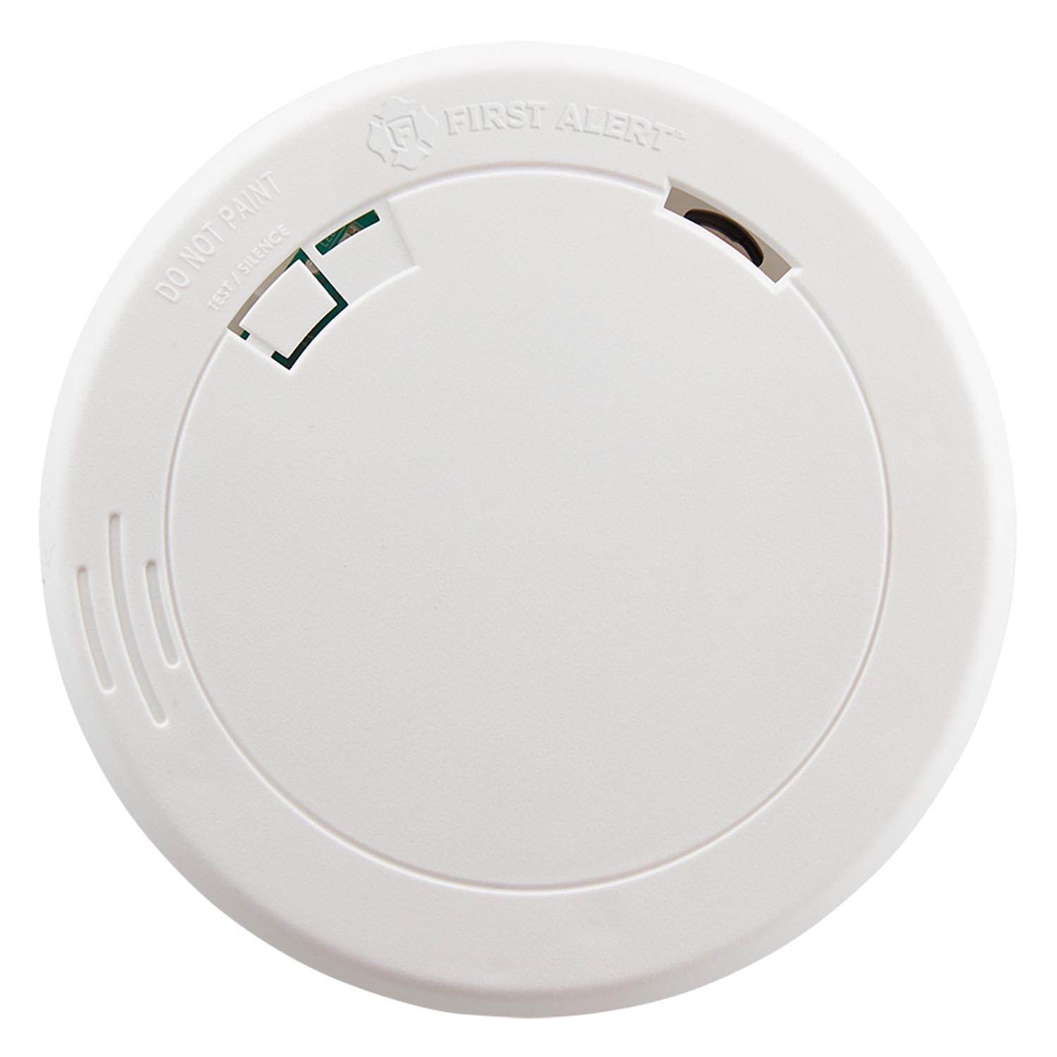 hight resolution of first alert pr700 slim design battery operated photoelectric smoke fire alarm first alert store