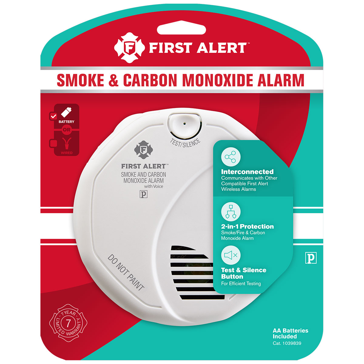 system sensor smoke detector wiring diagram 1996 volvo 850 radio first alert sco501cn 3st wireless talking battery operated interconnect carbon monoxide alarm