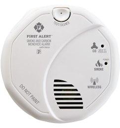 first alert wireless interconnect talking battery operated smoke carbon monoxide alarm sco501cn 3st [ 1000 x 1000 Pixel ]