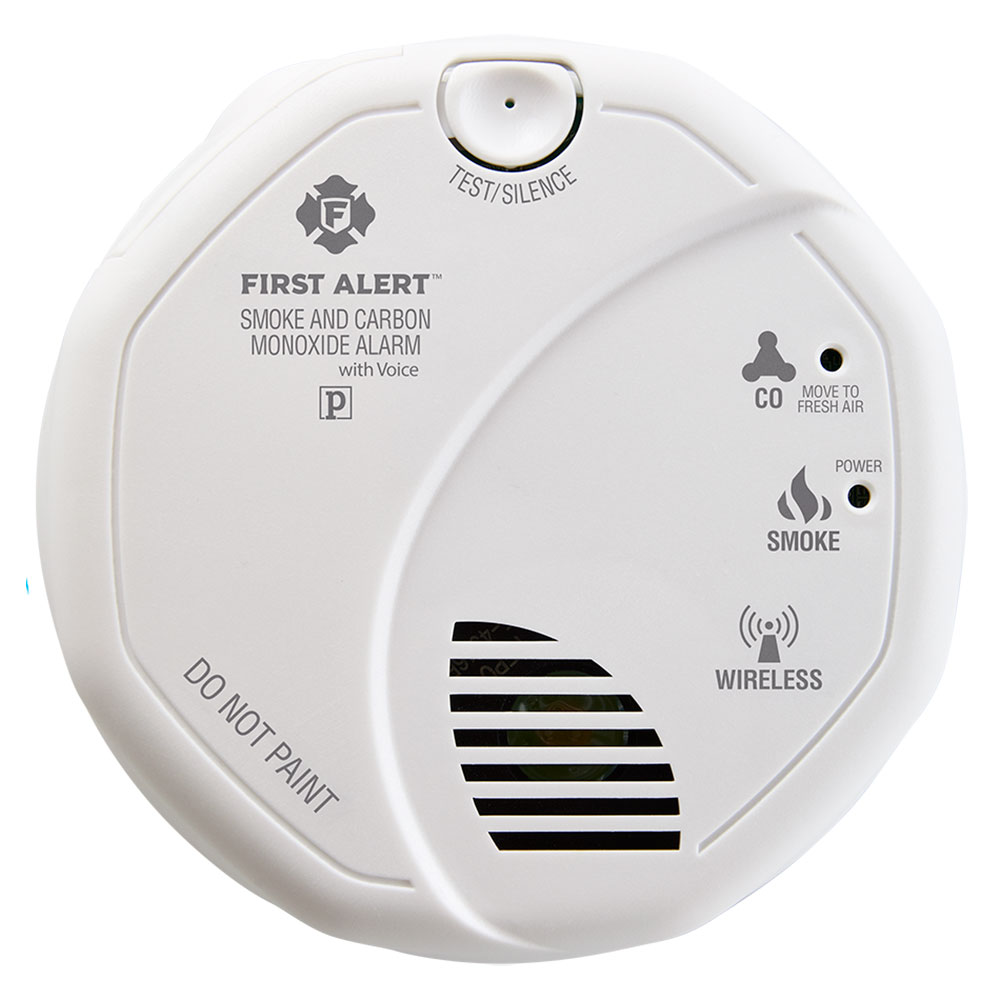 hight resolution of first alert wireless interconnect talking battery operated smoke carbon monoxide alarm sco501cn 3st