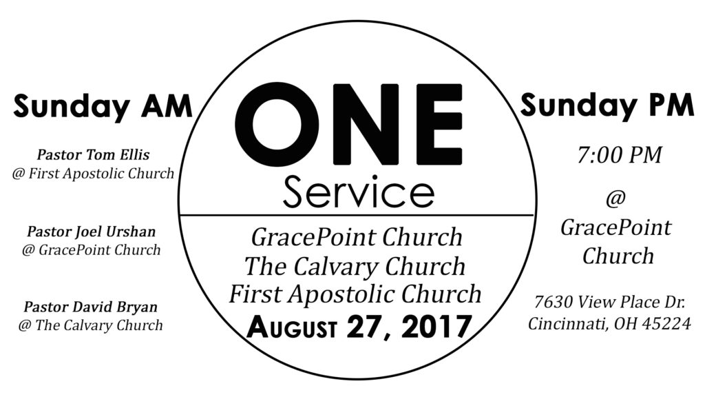 ONE service – August 27, 2017