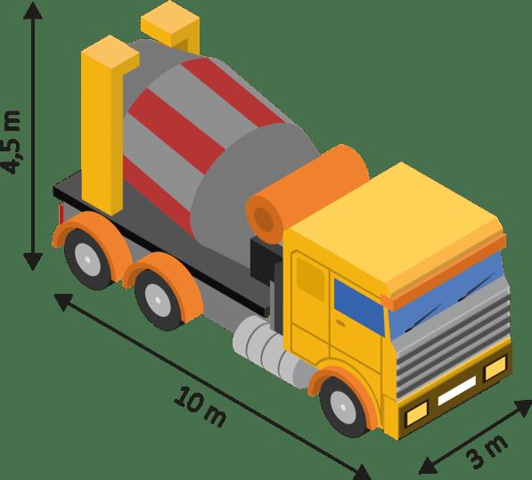le camion toupie first beton