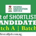 Nigeria Immigration Service NIS List Of 2019-2020 Successful Applicants -Check List Here
