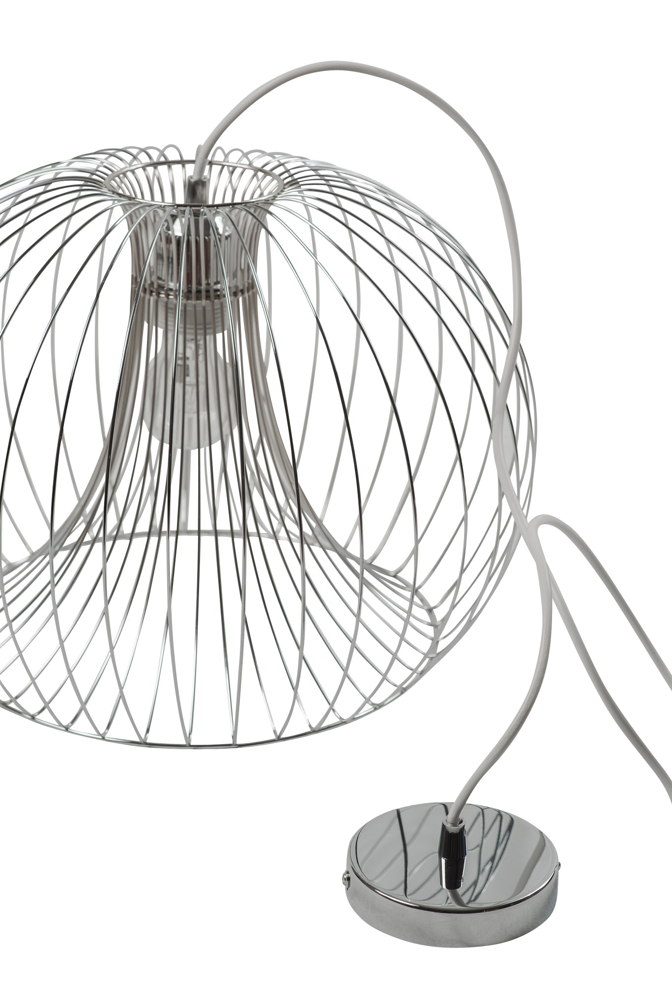 Contemporary modern Chrome wire ceiling pendant chandelier