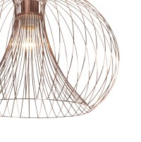 Contemporary modern copper wire ceiling pendant chandelier ...