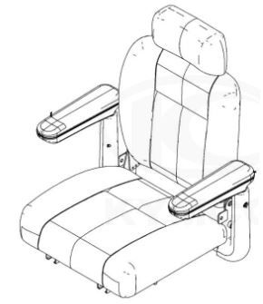 Complete Seat Assembly for Kymco Maxi XLS FORU EQ40BC