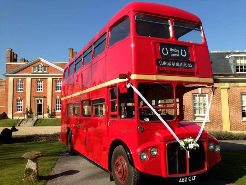 Classic London Bus Red Routemaster Wedding Bus In