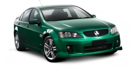dark green 4 door sedan
