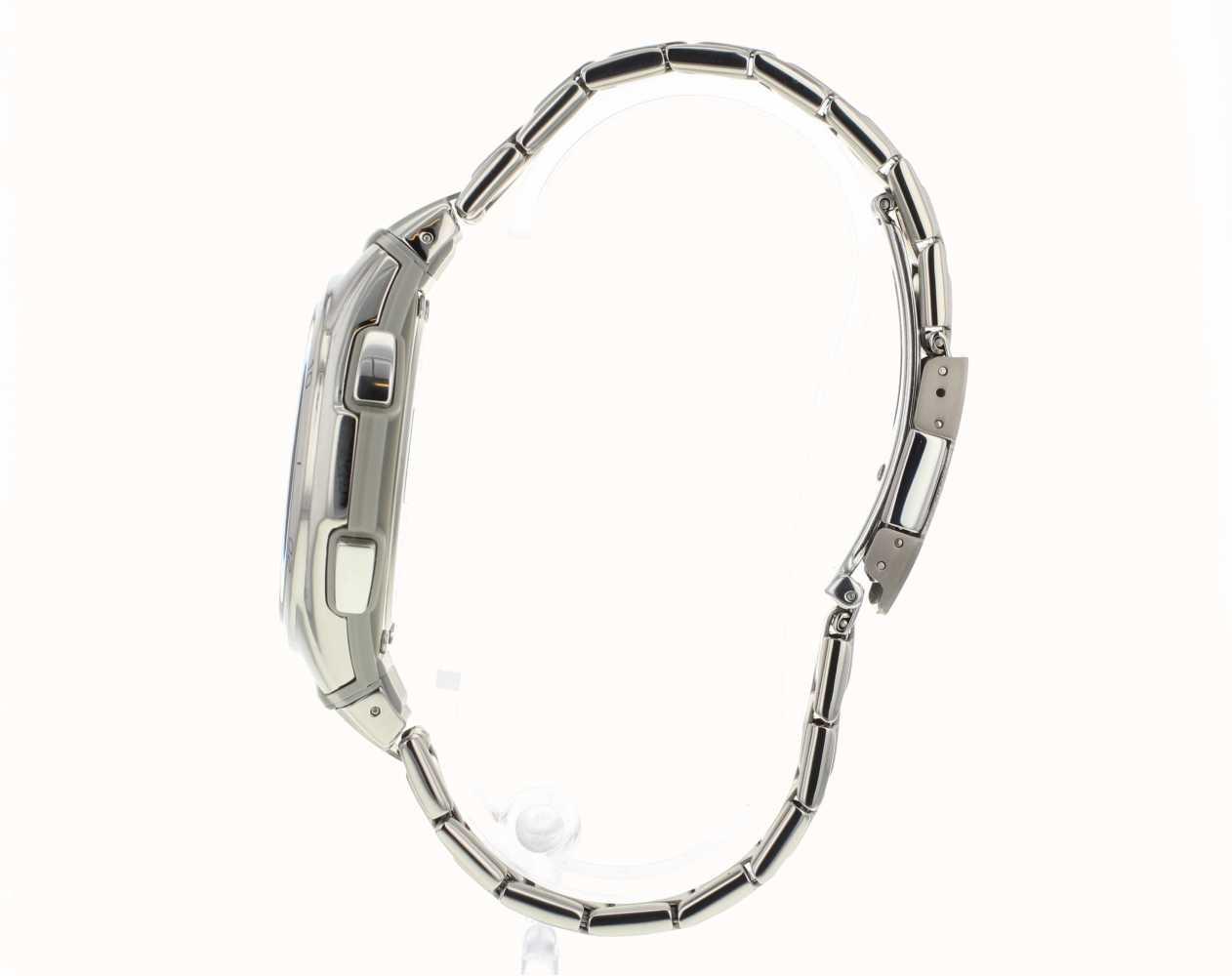 Casio Mens Wave Ceptor Black Dial Titanium Watch WVA