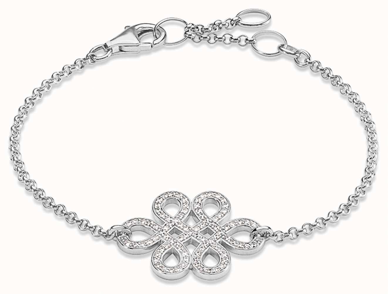Thomas Sabo Womans Silver Love Knot Bracelet A1226-051-14