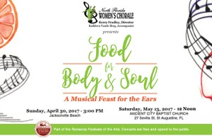 """Food for Body and Soul"" North Florida Women's Chorale @ Ancient City Baptist Church 