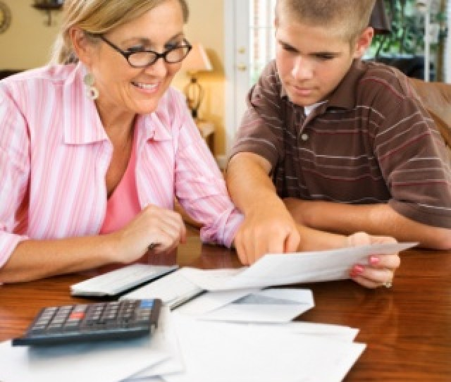 Mom Teaching Teen About Checking