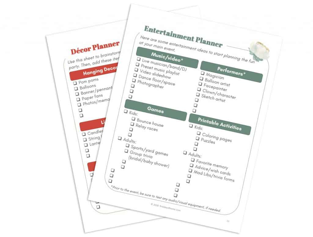 Free Party Planning Printables To Make Your Life Easy