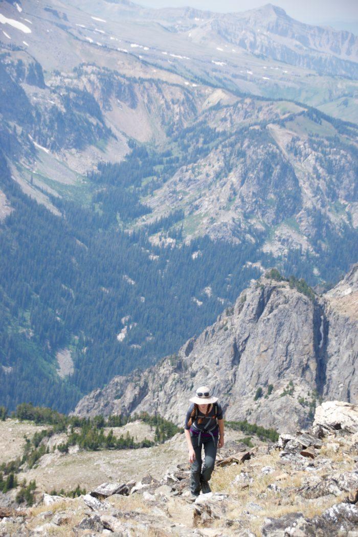 Anna cresting Static Peak