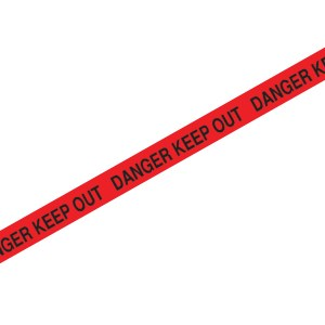 catenary tape Danger