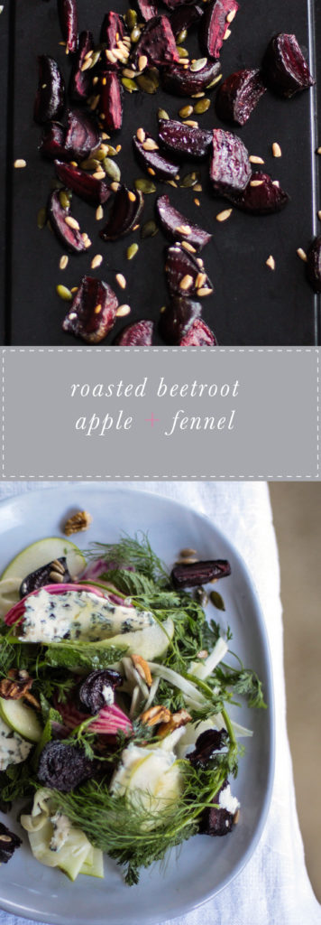 Roasted beetroot, apple and fennel salad