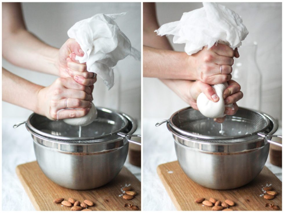 Nut milk bag squeeze