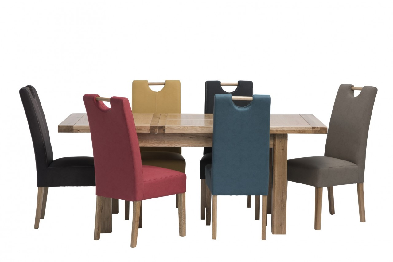 kensington leather chair and a half with ottoman belgravia 1 4m ext oak dining table 6