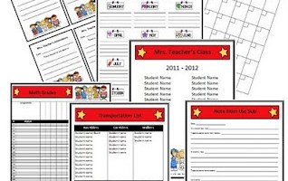 Hollywood Themed Classroom Forms and Substitute Information Pages