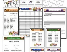 I'm on a roll! Sports Themed Classrooms Forms/Substitute Information Packet