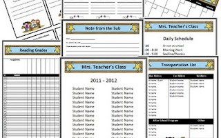 Western Cowboy Themed Classroom Forms and Substitute Information
