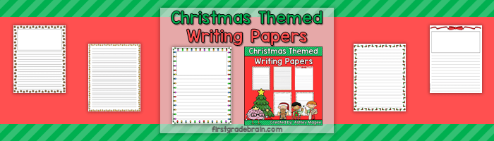 Christmas Themed Writing Paper Freebie