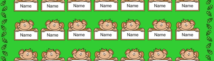 New SmartBoard Attendance Theme – Monkeys!